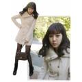 เสื้อโค้ชแฟชั่น ตัวยาว สีขาว ช่วงคอดีไซน์เก๋ แต่งด้วยกระดุมทั้ง 2 ข้าง ใส่ไปต่างประเทศได้ [MK-0623]