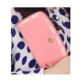 กระเป๋าสตางค์แฟชั่น KQUEENSTAR  สีชมพู ใบยาว ลายมงกุฎ ปิดเปิดด้วยซิบรูด สวยหรู MB3398