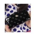 กระเป๋าสตางค์แฟชั่น KQUEENSTAR สีดำ ใบยาว ลายมงกุฎ ปิดเปิดด้วยซิบรูด สวยหรู MB3399