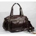 กระเป๋าผู้ชายแฟชั่นเกาหลี สีCoffee ใบใหญ่หนังนิ่ม อะไหล่ทอง 003620