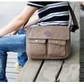 กระเป๋าแฟชั่น MMG สีน้ำตาลใบกลางแฟชั่นผู้ชายกระเป๋ายีนส์งานเนี้ยบเทรนด์ฮิตติดชาร์ท สไตล์ Street 0036