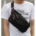 กระเป๋าแฟชั่น MMG สีดำ สะพายไหล่ แฟชั่นกระเป๋าผู้ชาย สุดแนว แท็กซ์เจอร์ที่ดูดี 004141