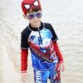 ชุดว่ายน้ำเด็ก แขนยาว ขาสั้น เนื้อผ้าสแปนดิซ ยืดหย่นดี ใส่สบาย ป้องกันแสงยูวี 50 16D24