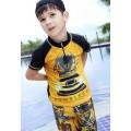 ชุดว่ายน้ำเด็กผู้ชาย Bumblebee + หมวก อายุ 3-12 ปี 16D28