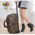กระเป๋าแฟชั่นเดินทาง ล้อลาก ลายตาราง ทรงแนวนอน แบบถือและลากได้ ใช้งานสะดวก 005426