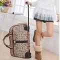 กระเป๋าแฟชั่นเดินทาง ล้อลาก ลาย Micky ทรงแนวนอน แบบถือและลากได้ ใช้งานสะดวก