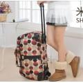 กระเป๋าแฟชั่นเดินทาง ล้อลาก ลายจุดหลากสี ทรงแนวนอน แบบถือและลากได้ ใช้งานสะดวก