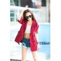เสื้อคลุม เสื้อแจ็คเก็ตสีแดง เท่ๆ ต้อนรับลมหนาว พร้อมส่ง สีแดง