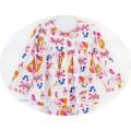ชุดนอนเด็กหญิง ไซส์ 10-12 แขนยาว ขายาว ผ้ายืด (กระดุมผ่าหน้า) ลายลายเจ้าหญิงชุดสีชมพูพื้นสีขาว