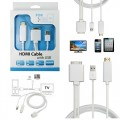Ozaza HDMI Cable with USB for Apple iPhone 4 4S iPad 1 2 3