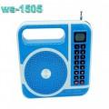 Ozaza ลำโพง MP3 วิทยุ FM แบตเตอรี่ในตัว รุ่น WS 1505(สีฟ้า)