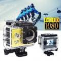 Ozaza กล้องกันน้ำ Action FULL HD 1080p Camera(สีเหลือง)