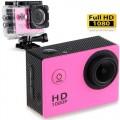 Ozaza กล้องกันน้ำ Action FULL HD 1080p Camera(สีชมพู)
