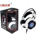 OKER Vibration Hi-Fi stereo headphone Gaming Headset รุ่น X94(สีขาว/ดำ)