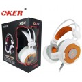 OKER Vibration Hi-Fi stereo headphone Gaming Headset รุ่น X94(สีขาว/ส้ม)