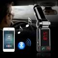 4 in 1 Bluetooth แฮนฟรี, เครื่องส่ง FM, เครื่องเล่น MP3 และชาร์จโทรศัพท์ ในรถยนต์