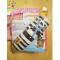 Petstage Mini Stuffing Zebra มีเสียงปิ๊บๆของเล่นNon-toxic