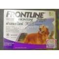 Frontline Plus สำหรับกำจัดหมัด ไข่หมัด และเห็บ ชนิดหยดหลัง สำหรับสุนัขน้ำหนัก20-40 kg.(ขายปลีก1หลอด)