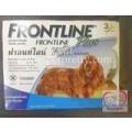 Frontline Plus สำหรับกำจัดหมัดไข่หมัดและเห็บ ชนิดหยดหลัง สำหรับสุนัขหนัก10-20 kg.(ขายปลีก1หลอด)
