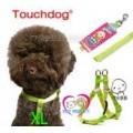 เซ็ทคู่สายรัดอก+สายจูงสุนัขไซส์ใหญ่ ยี่ห้อTouchdog japan size XL แข็งแรง สีเหลือง,ชมพู เขียวเข้ม