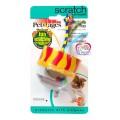 ของเล่นแมว Petstages Scratching Top Cat Toy รูปกรวยมีหาง พร้อมลูกปัดข้างใน ข่วนเล็บให้สนุกสุดขีด