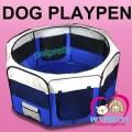 คอกผ้าใบใส่สุนัข8เหลี่ยม ยี่ห้อPCพับเก็บและพกพาได้นน.เบา ขนาดLใสำหรับสุนัขกลาง-ใหญ่