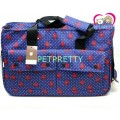 กระเป๋าใส่สุนัขสไตล์เทรนดี้ลายจุดสีน้ำเงินอมม่วงButter สายสะพายยาว สำหรับสุนัข1-3kg