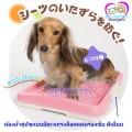 ถาดส้วมสุนัขมีตะแกรงล็อคแผ่นซับกับตัวถาดได้ ขนาดเล็กสีชมพูอ่อน( สินค้านำเข้า)