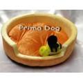 ที่นอนผลไม้มินิ พร้อมของเล่นชิ้นนุ่มนิ่มมีเสียง น่ารัก สำหรับสุนัขแมว1-4กก.ส้ม