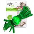 ของเล่นแมวนำเข้า All for Cat พู่ขนนกและเส้นเชือกในบอลที่ชวนแมวคลั่ง Candy Ballมี 3สี
