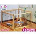 คอกไม้ญี่ปุ่นสำหรับสุนัขไซส์กลาง(M)รุ่นสลัก สามารถต่อขยายเพิ่มได้