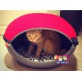 ที่นอนสุนัขแมว ทรงโดมทูโทนเก๋ๆยี่ห้อ IBIYAYA Taiwanสำหรับสุนัขแมวที่น้ำหนักไม่เกิน 6kg.(แดง)