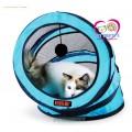 +สีฟ้า+อุโมงค์แมว2in1พร้อมตุ้มล่อ สำหรับคนรักแมว (พับแบนได้).