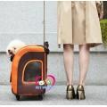 กระเป๋าสุนัขแมวขนาดใหญ่มี4ล้อเข็นสะดวกและสะพายยาวได้  รับน้ำหนักได้10kg Ibiyaya Taiwan