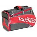 กระเป๋าใส่สุนัขแมว Touchdog Sport ดีไซน์ทรงยาวสะพายไหล่ ขึ้นเครื่องบินได้ สีแดง รับได้ 1-4kg