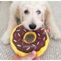ของเล่นสุนัขนำเข้า  ZippyPaws Donut รูปโดนัท น่ากินมีเสียงปิ๊บๆ สีน้ำตาล(chocolate) ขนาด 7 นิ้ว