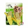 ของเล่นแมวนำเข้า All for Cat เสริมทักษะ รูปกล้วย2  ลูก(มีแคทนิปในตัว)