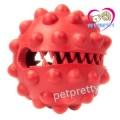 ของเล่นสุนัข Dogzilla Knobby Ball ของเล่นยางนิ่มใส่ขนมได้ ลูกบอลแดงรูปฟัน มีกลินไก่หมาชอบ