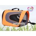 กระเป๋าใส่น้องหมาแมว แนวสปอร์ตยี่ห้อ Pet Comer  สีส้มเทา พร้อมสายสะพายข้างสำหรับ1-5กก.(ไซส์ใหญ่)