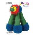 ของเล่นสุนัขนำเข้าCHOMPER DOGGY LONG LEGS Fun! มีเสียงปิ๊บๆ ขนาด22ซม.ยืนได้(LION)