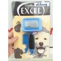 แปรงหวีขนสุนัข สลิคเกอร์ Excel Size S สางขนที่ตาย สางขนร่วง ทำขนฟู สำหรับสุนัขแมวตัวเล็ก(ด้ามฟ้า)