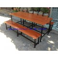 pnk2-7 โต๊ะโรงอาหารไม้สักระแนง