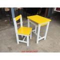 pnk1-51 โต๊ะเก้าอี้นักเรียน ไม้ยางพาราทำสี ระดับประถม