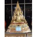 พระพุทธชินราช 29 นิ้ว เนื้อทองเหลือง ลงรัก ปิดทอง