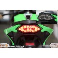 MOTODYNAMIC LED TAILIGHTS SMOKE (ไฟท้าย LED พร้อมไฟเลี้ยวในตัว) สี Smoke สำหรับ Kawasaki Ninja300