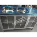 ซิ้งค์ล้างจานสแตนเลส 2 หลุม มีที่พักข้าง มีตู้เก็บของ ขนาด 1.20 เมตร
