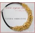 สร้อย Amber stone(แท้) ส้มอ่อน สวยมาก