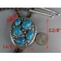 โบโรไทล์เงินแท้ฝังเทอร์อริโซน่า 5 เม็ด ลายเม็ดเงิน silver bolotile ,arizona turquoise