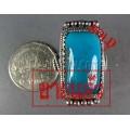 แหวนเงินแท้ หัวเทอร์ควอยส์ทรงสี่เหลี่ยมยาว ขนาดกลาง,  Silver ring,Turquoise