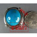 แหวนเงินแท้ หัวเทอร์ควอยส์เม็ดเล็กเจียทรงไข่ silver ring,turquoise